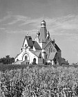 The church upon completion in 1949
