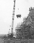 Installing the main church dome in 1948